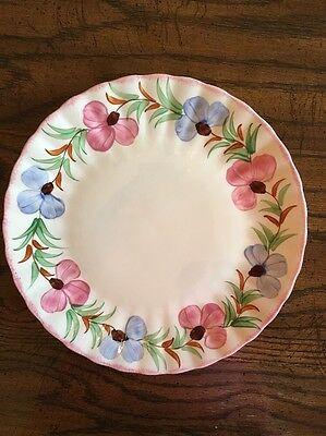 VINTAGE BLUE RIDGE POTTERY/SOUTHERN POTTERIES - SWEET PEA Set Of 12DINNER PLATES