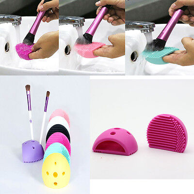 Silicone Fashion Egg Cleaning Glove Makeup Washing Brush Scrubber Tool Cleaner