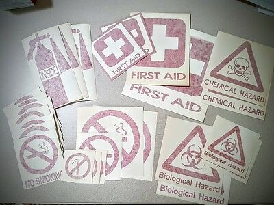 Safety Decals Misc., Fire Ext., First Aid