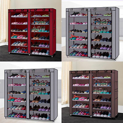 10 Tier 30/50 Pair Space Saving Storage Organizer Free Standing Shoe Tower Rack!