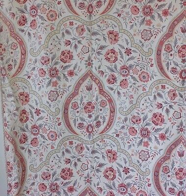 French Antique c1890-1900 Provencal/Persian Paisley Medallion Print Curtain