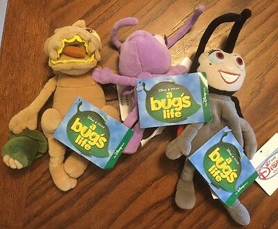A Bug's Life Plush Set ~ Francis, Dot And Flea, 8""