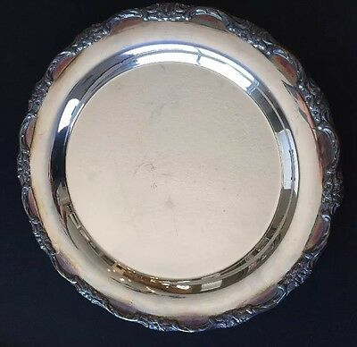 "Antique International Silver Co. 10"" Silver Platter-"
