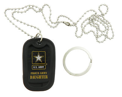 U.S. Army Proud Daughter United States USA Military ID Dog Tag / Keychain