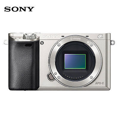 SONY Alpha a6000 24.3 MP Digital Camera Quicker autofocus - Silver <Body Only>