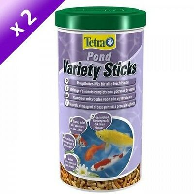 Lot de 2 - TETRA Pond Variety Sticks 1 L - Pour poisson de bassin
