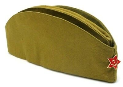 Soviet RUSSIAN USSR Soldier army Military Uniform Hat Pilotka with Red Star