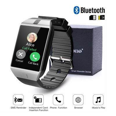Cawono DZ09 Smart Sports Bluetooth Wrist Watch Men's SIM for Android iPhone US
