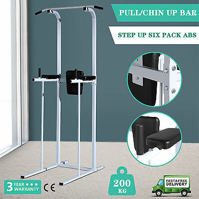 Fitness Power Tower Dip Station Home Gym Fitness Exercise AB Pull/Chin Up Bar