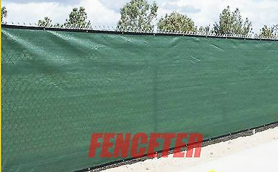 FENCETER Green 8'x10' Fence Windscreen Privacy Screen Shade Cover Fabric Mesh