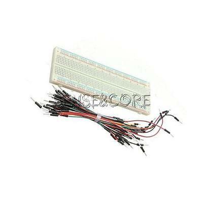 830 Tie Points Solderless PCB Breadboard MB102 + 65Pcs Jumper Cable Wires New