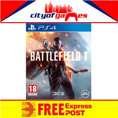 Battlefield 1 PS4 New & Sealed Free Express Post In Stock