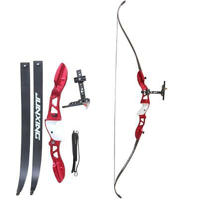 Archery Takedown Recurve Bow Shooting Alloy Riser Hunting Longbow Target 66''