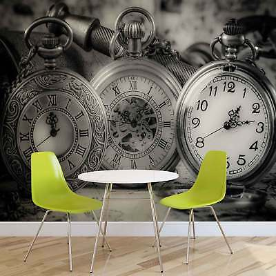 WALL MURAL PHOTO WALLPAPER XXL Watches Clocks Black White (1520WS)