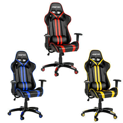 Merax PU Leather Racing Gaming Chair Seats Computer High Back Office Chair