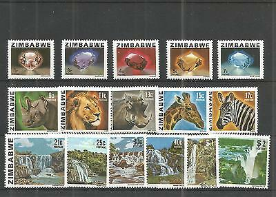 Zimbabwe 1980 Definitive Set Sg,576-590 Un/mm Nh Lot 850A