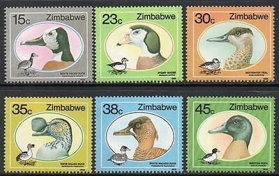 ZIMBABWE MNH 1988 Ducks and Geese Set