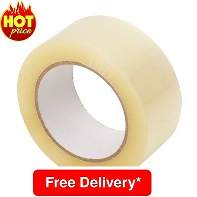 12 Big Strong Clear Parcel Packing Packaging Sellotape Tape Box Sealing48Mm X66M