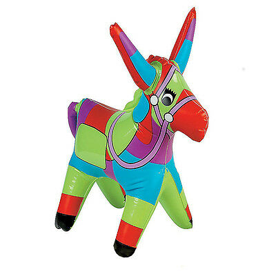 """18"""" Inflatable Donkey Blow Up Animal Fiesta Spanish Pinata Party Toy Pool Toys"""