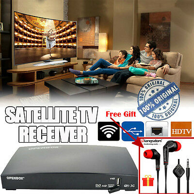 Openbox V8S Satellite Receiver Full HD 1080P PVR Channel Box + 12 Month Gift NEW