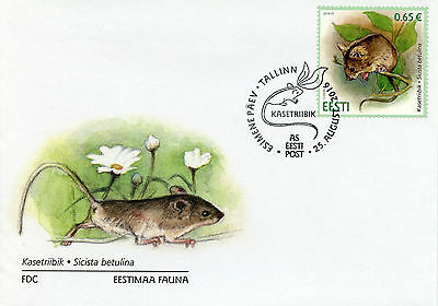 Estonia 2016 FDC Northern Birch Mouse 1v Set Cover Wild Animals Rodents Stamps