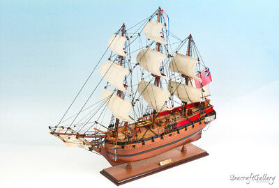 New Hms Sirius Wooden Model Tall Ship Boat Gift Decoration 75Cm