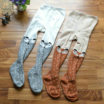 Children Kids Girls Boys Baby Fox Cartoon Pantyhose Tights Socks Stockings