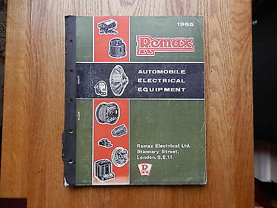 REMAX Auto Electrical catalogue issued 1965 covers from 1930's. xref to LUCAS