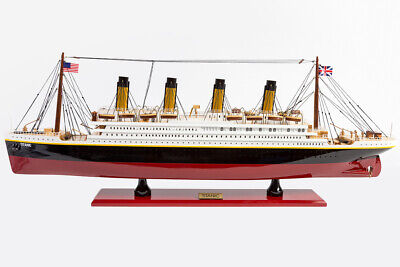 New Premium Titanic Handcrafted Wooden Model Boat Cruise Ship 80Cm Great Gift