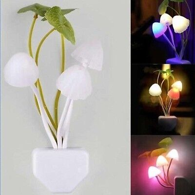 New Fantastic Mushroom Light Sense Control Led Night Wall Lamp Light Bulb FG