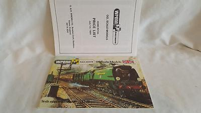 Wrenn Railway Catalogue 6Th Edition Inc Price List Excellent To Mint Cond