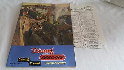 Triang Railways 11Th Edition Catalogue In Mint Condition Inc Price List