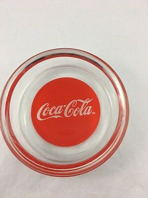 Vintage Collectible Glass Coke Coca-Cola Ashtray