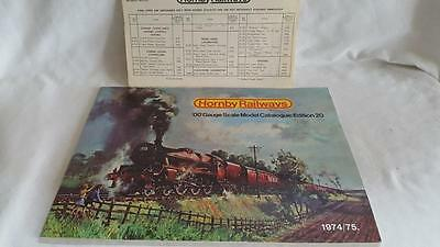 Hornby 20Th Edition Catalogue Inc Price List Edition With Year Printed Exc