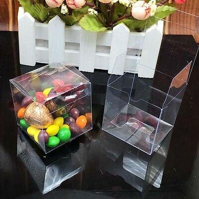 50Pcs Anti Scratch Clear Candy Boxes Wedding Party Favor Gift Boxes