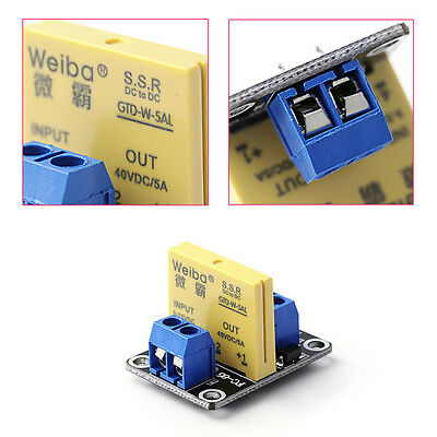 5A 40V 1 Channel SSR Solid-State Relay High Level Trigger Module Arduino Uno R3