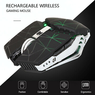 Zelotes 2.4GHz Wireless Optical Mouse Gaming Pro Mice 2400 DPI Adjustable USB PC