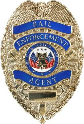 Gold Deluxe Bail Enforcement Agent Badge