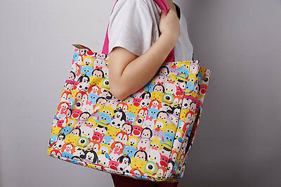Lot tsum tsum Multifunctional Multilayer Zipper Daily Leisure Shopping Bag