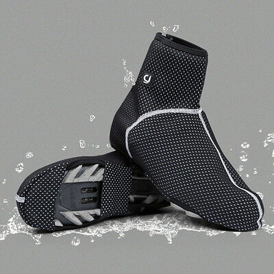 Cycling Thermal Fleece Shoe Cover Winter Reflective Overshoes Water Resistant
