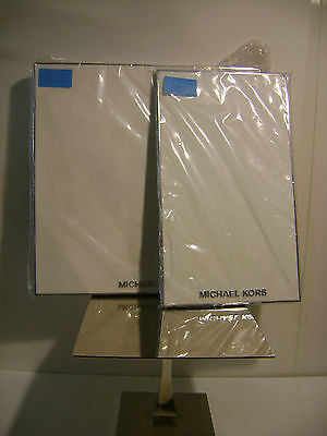 Michael Kors White  Leather Jewelry Display Runway Boards Set 2
