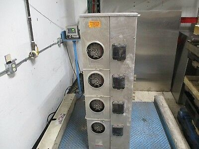 Erickson 4-Position Meter Stack CM87-4 1200A 240V Max 3Ph 4W 3R Enclosure Used
