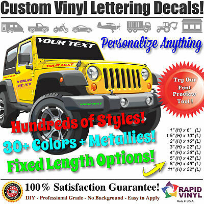 Custom Vinyl Lettering Decal Sticker - Business Car Boat Jeep Truck Window Signs
