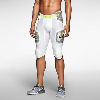 Nike Pro Combat 3.0 Hyperstrong 3/4 Compress Football 584387-101 White Men Pants
