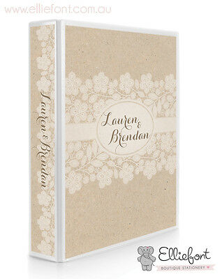 Personalised Wedding Planner/Diary/Book/Keepsake - Paper and Lace