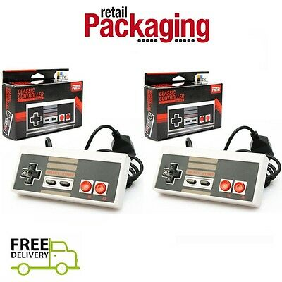 2 New Tpx Classic Controllers For Nintendo Nes 8 Bit System Console Control Pad