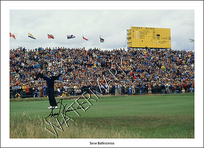 Seve Ballesteros Signed Print Photo Poster Wall Art Golf Open Masters Ryder Cup