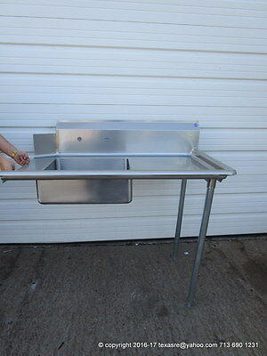 """New Stainless Steel Soiled / Dirty Right Side Dish Table, 48"""" 16Ga, NSF"""