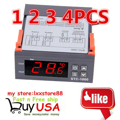4X Digital STC-1000 All-Purpose Temperature Controller Thermostat W Sensor 220V