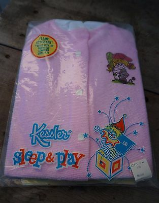 New Vintage Kessler Sleep & Play One Piece Sleeper ~ Polyester made in USA
